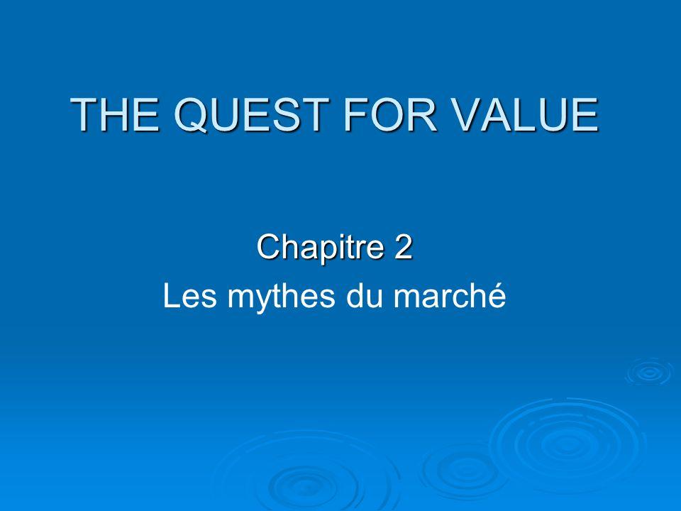 THE QUEST FOR VALUE Chapitre 2 Les mythes du marché