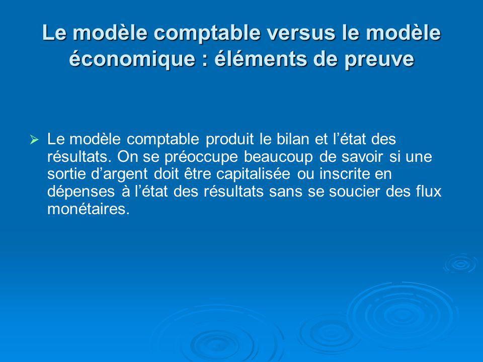 Le modèle comptable versus le modèle économique : éléments de preuve FIFO vs LIFO Les réactions du marché prouvent que les investisseurs se soucient davantage dune augmentation des flux monétaires libres que dune diminution des bénéfices.