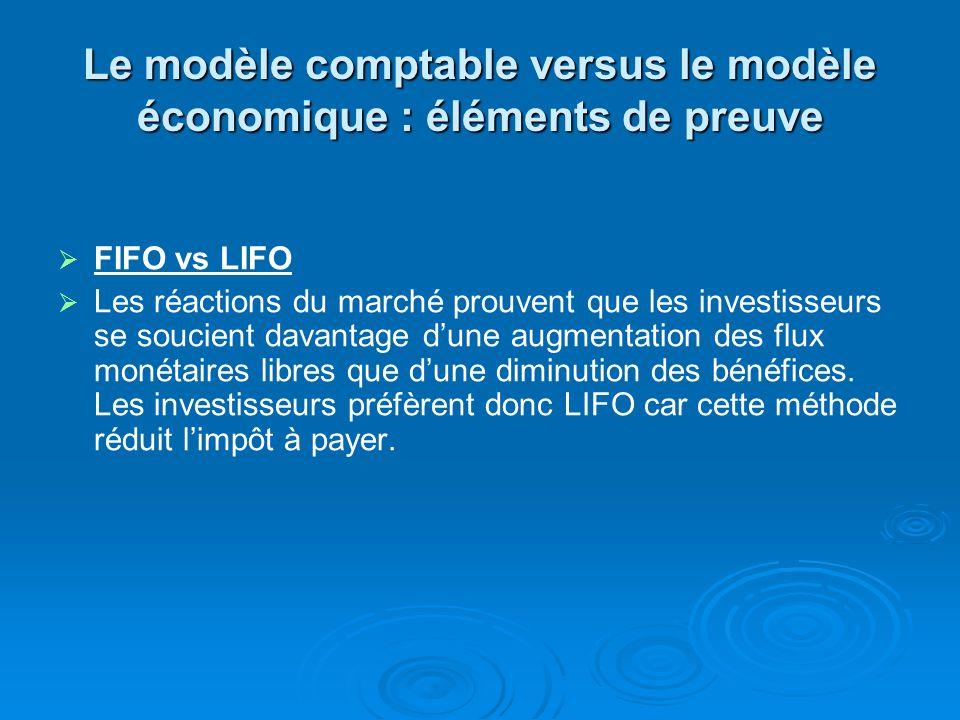 Le modèle comptable versus le modèle économique : éléments de preuve Lamortissement de lécart dacquisition Lécart dacquisition ne samortit plus maintenant, cest un changement ultérieur à la publication du livre.