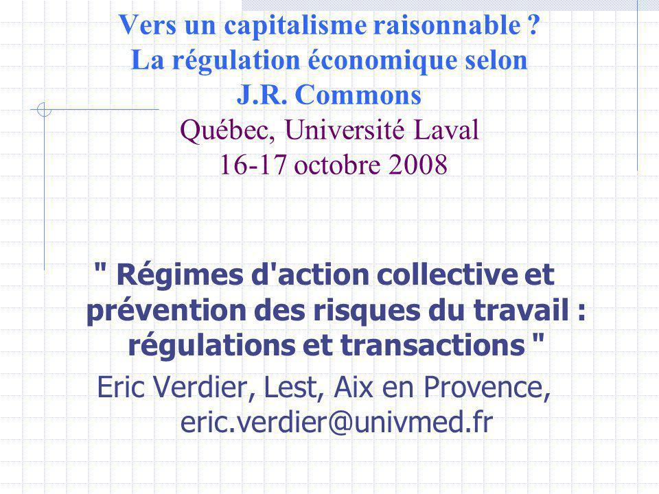 Vers un capitalisme raisonnable . La régulation économique selon J.R.