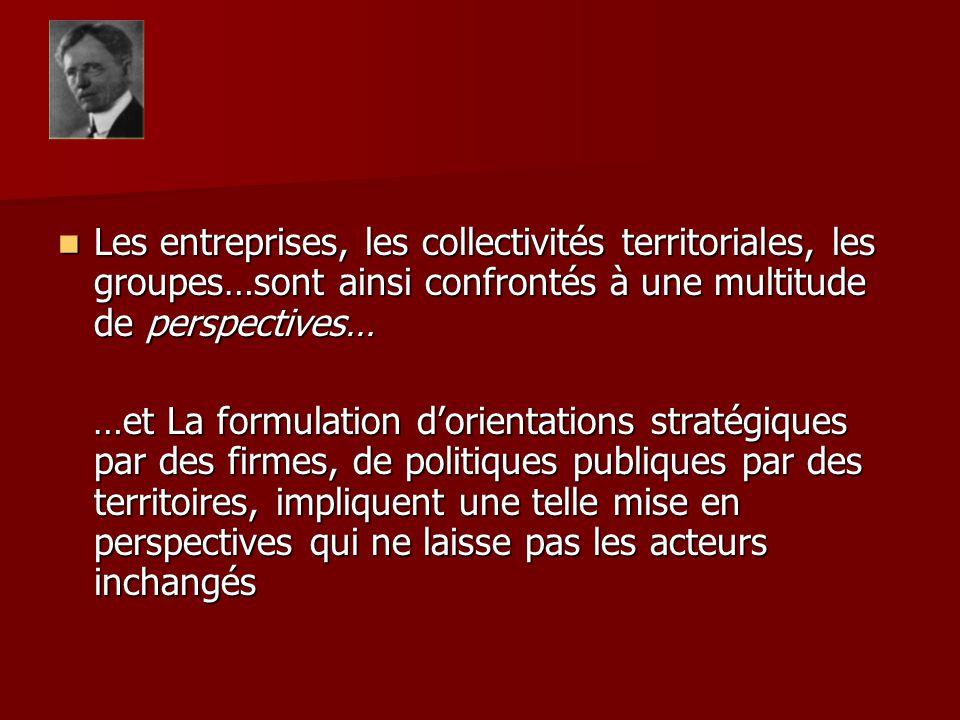 Les entreprises, les collectivités territoriales, les groupes…sont ainsi confrontés à une multitude de perspectives… Les entreprises, les collectivité