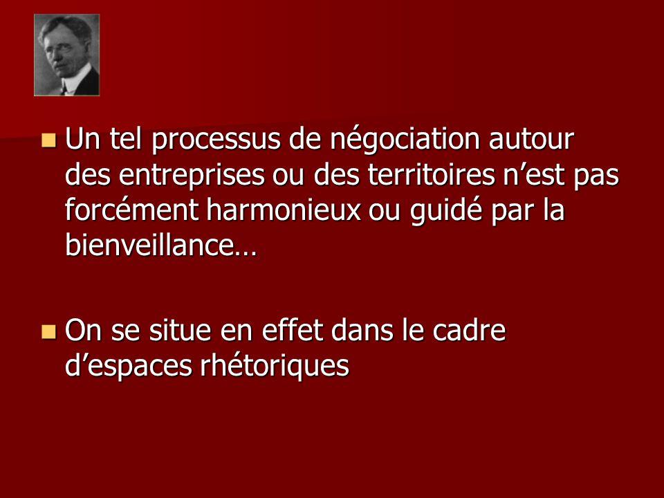 Un tel processus de négociation autour des entreprises ou des territoires nest pas forcément harmonieux ou guidé par la bienveillance… Un tel processu