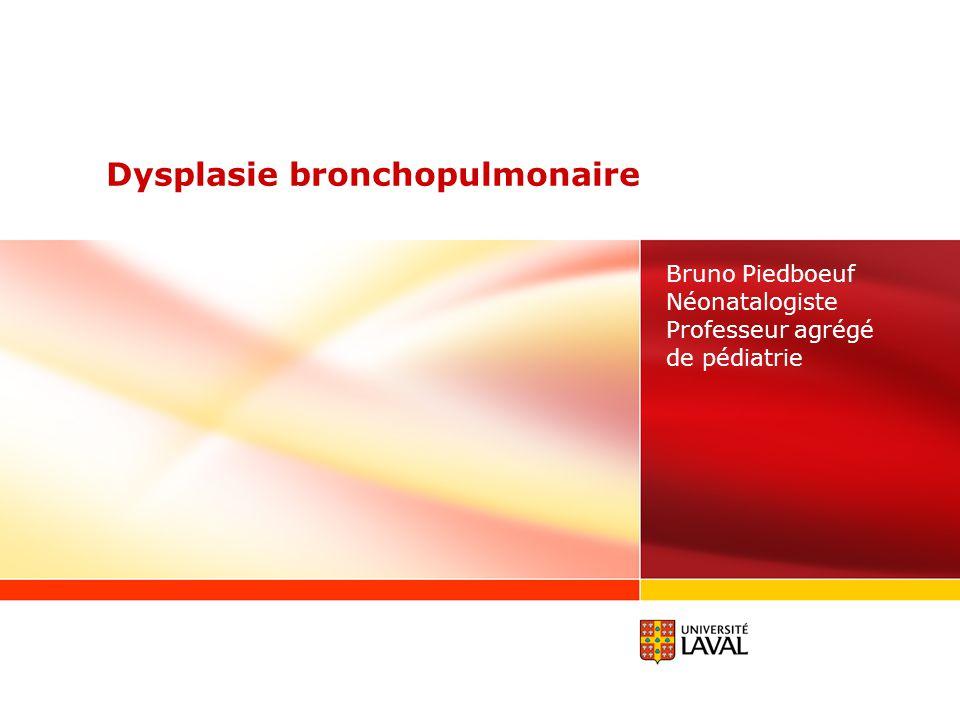 www.ulaval.ca 12 Physiopathologie révisée New BPD: implication Tous les prématurés et les bébés à terme ventilés auront un développement pulmonaire perturbé Implication à long terme Piège des fonctions pulmonaires Ventilation vs perfusion