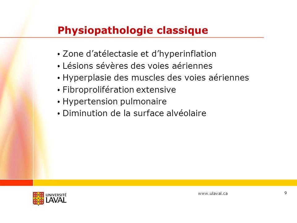 www.ulaval.ca 10 Physiopathologie classique