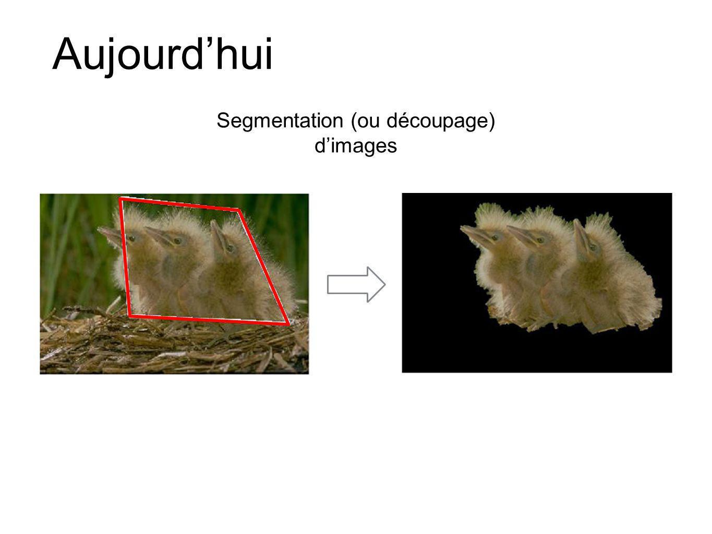 Segmentation par coupure de graphe Li et al., Lazy Snapping, SIGGRAPH 2004 Rother et al., Grab Cut, SIGGRAPH 2004