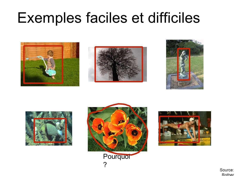 Exemples faciles et difficiles Pourquoi ? Source: Rother