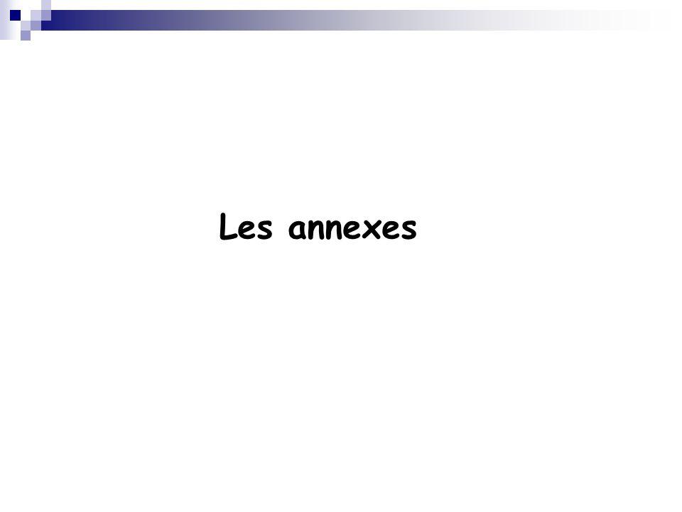 Les annexes