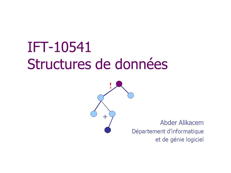 Exemple dinstance : unPoint import java.awt.*; // on a besoin de la classe Point public class TestPoints { public static void main(String[] arg) { Point unPointAWT = new Point(10, 15); fr.u-psud.Point unPoint=new fr.u-psud.Point(); unPoint.setX(10); unPoint.setY(100); System.out.println( point\n\t d abscisse + unPoint.getX() + \n + \t et d ordonnée + unPoint.getY()); } }// Fin class TestPoints