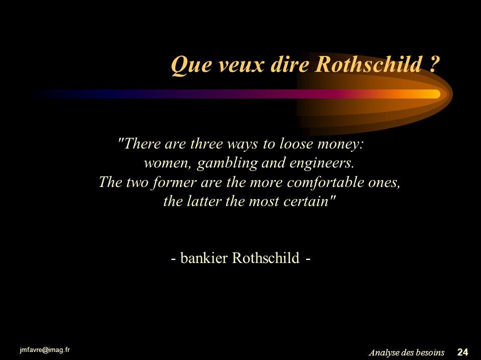 jmfavre@imag.fr 24Analyse des besoins Que veux dire Rothschild ?