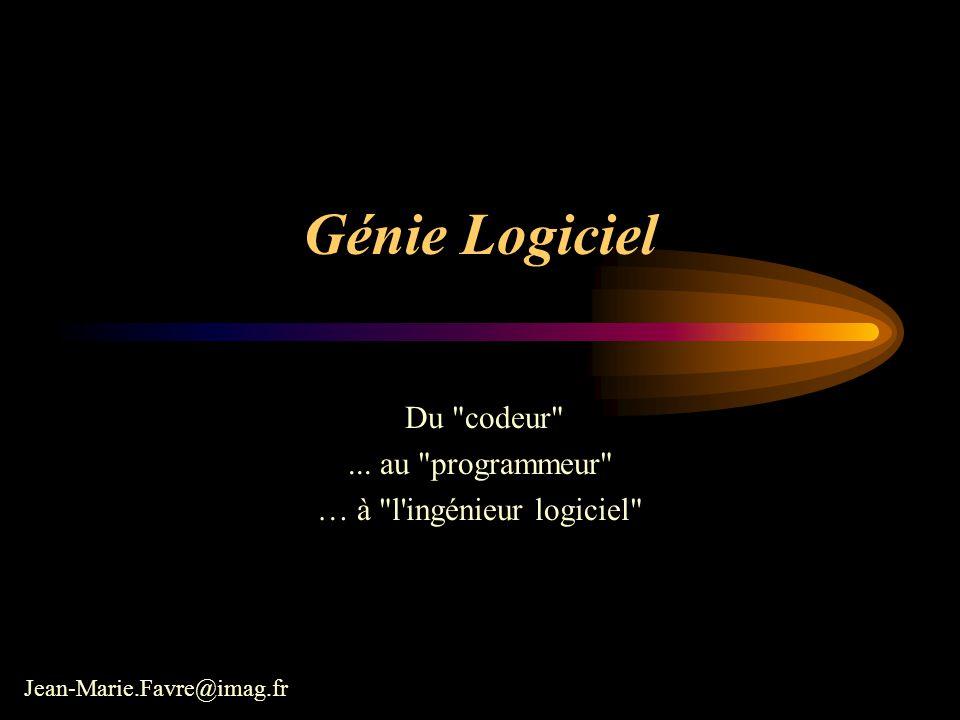 jmfavre@imag.fr 4Analyse des besoins Vous avez dit Génie Logiciel .