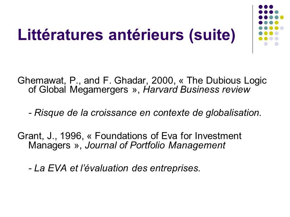 Littératures antérieurs (suite) Ghemawat, P., and F.
