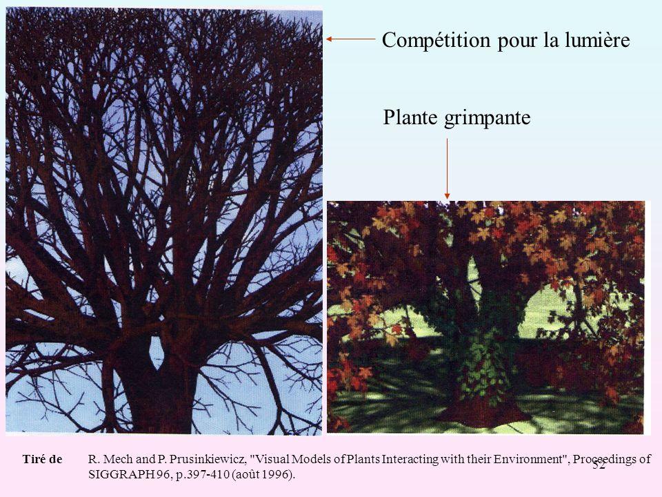 52 Compétition pour la lumière Plante grimpante Tiré deR.