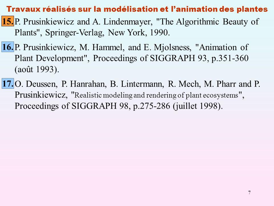 7 Travaux réalisés sur la modélisation et lanimation des plantes P.