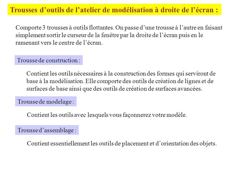 Partie II Repère : Lusager travaille dans un repère orthonormé représenté par 3 axes gradués.