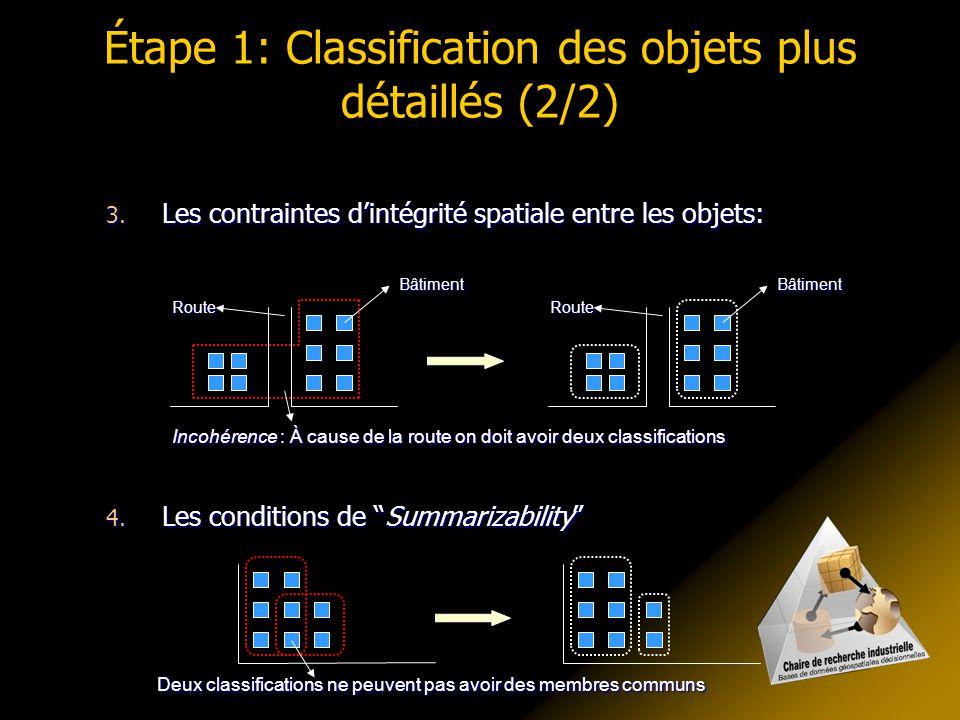 Étape 2: Calcul des objets agrégés Il faut considérer différents aspects: 1.