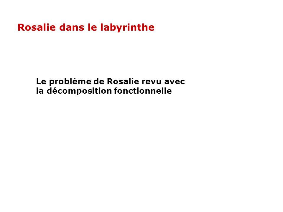 Le problème de Rosalie revu avec la décomposition fonctionnelle Rosalie dans le labyrinthe