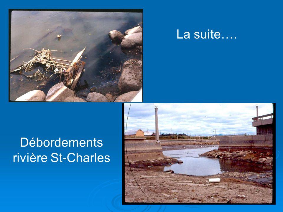 Débordements rivière St-Charles La suite….