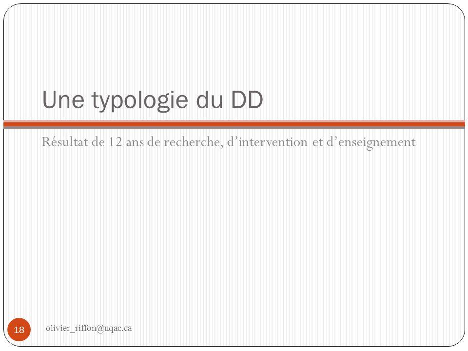 Typologie du DD Il existe différentes façons dinterpréter le développement durable.