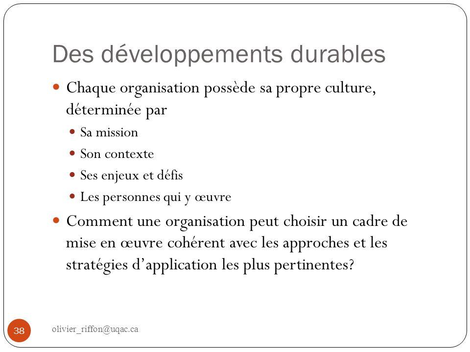 Méthodologie de recherche Identifier les concepts clés pour les approches et stratégies de développement durable.