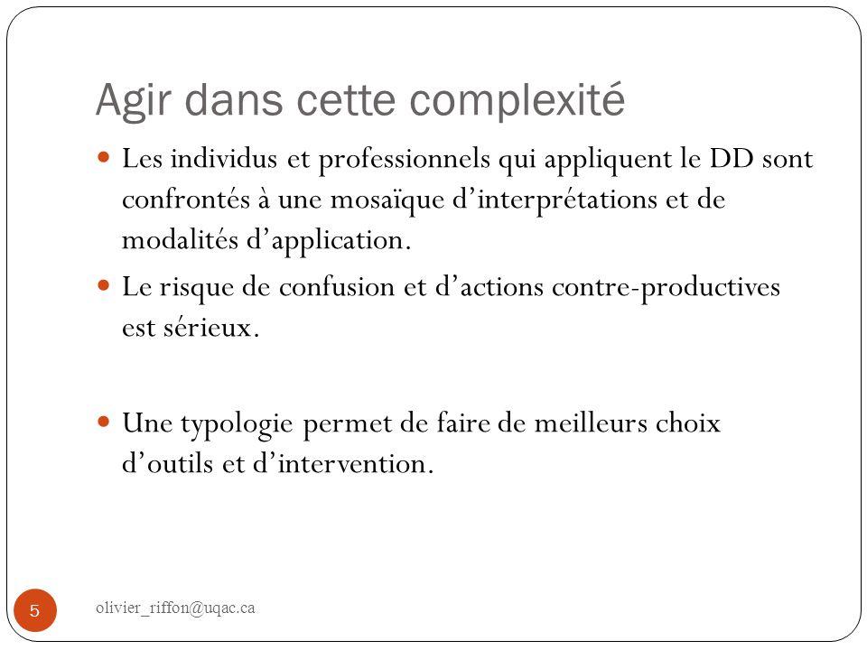 Appliquer le développement durable en milieu municipal Contexte québécois : des laboratoires de changements 6 olivier_riffon@uqac.ca