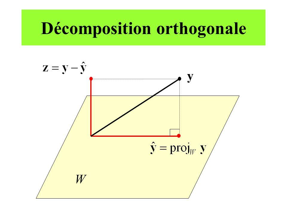 Théorème: décomposition QR Si une matrice A m n possède des colonnes linéairement indépendantes, alors A peut être décomposée selon A = QR, où Q est une matrice m n dont les colonnes forment une base orthonormale de Col A et R est une matrice n n, triangulaire supérieure et réversible, avec tous les éléments de sa diagonale > 0.