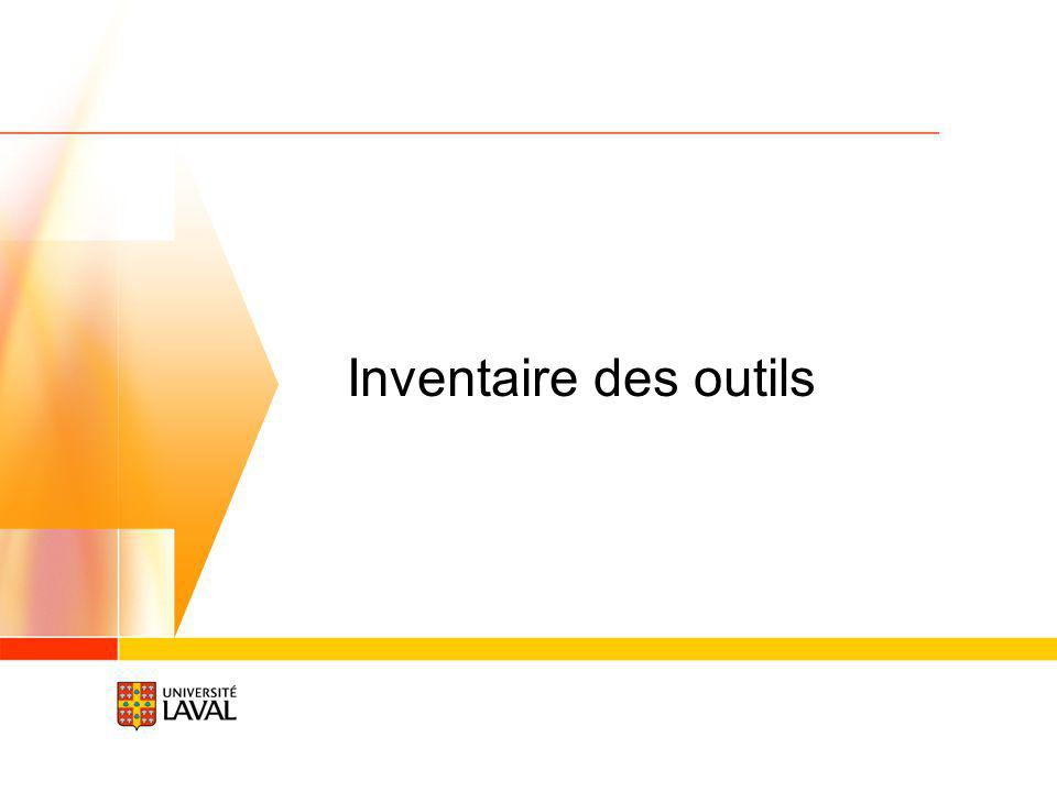 Inventaire des outils