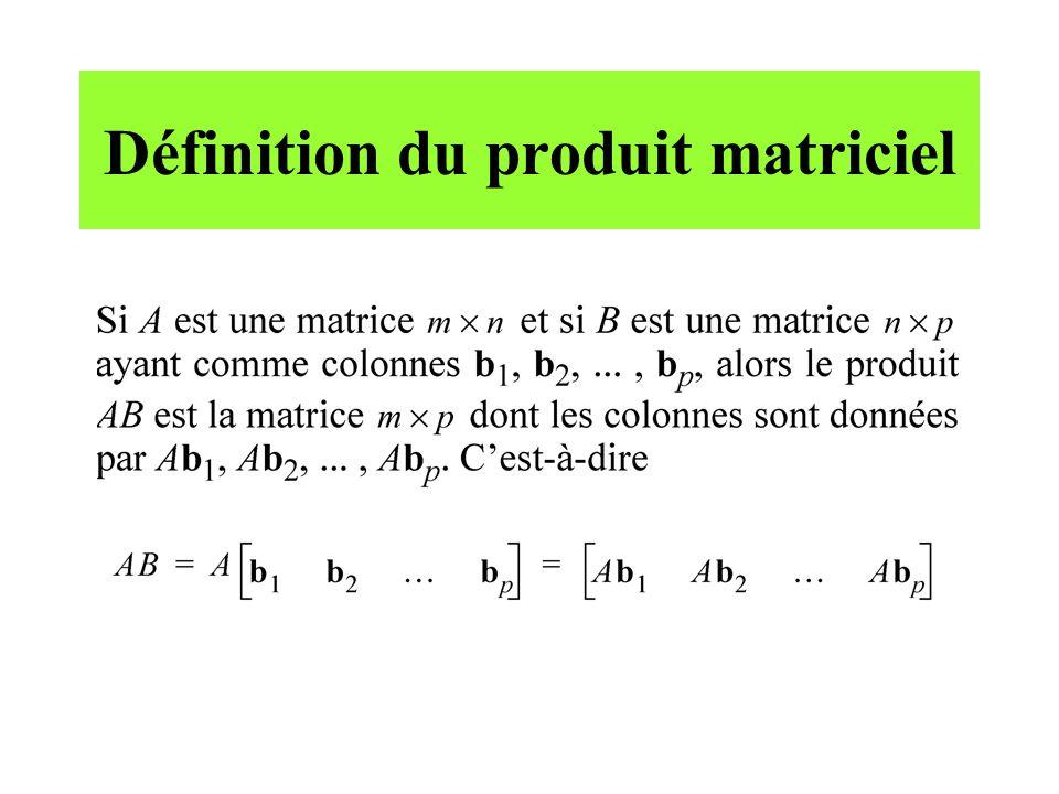 Définition du produit matriciel