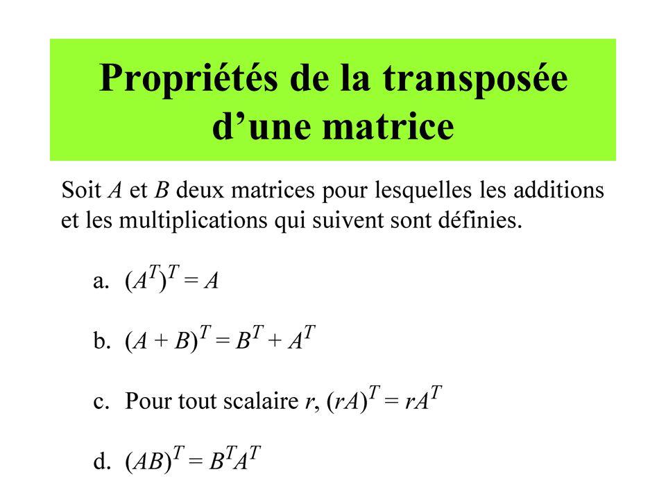 Prochain cours... Caractérisation des matrices inversibles Matrices bloc