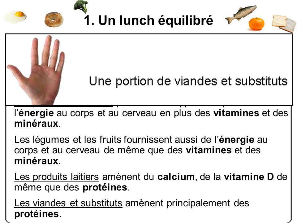 Pour être rassasiant, il doit contenir : - au moins 15 g de protéines - des fibres alimentaires Les produits céréaliers permettent dapporter rapidemen