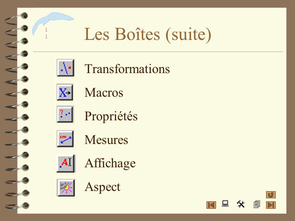 1010 Les Boîtes classées 4 Pointeurs 4 Points 4 Lignes 4 Courbes 4 Constructions./.