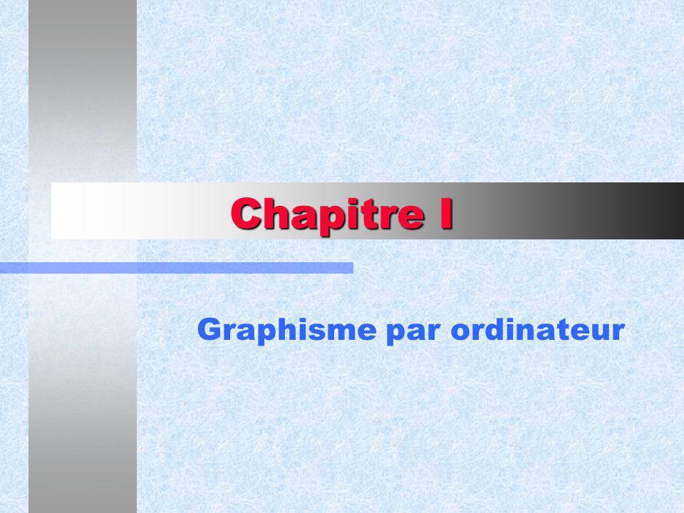 Chapitre I Graphisme par ordinateur