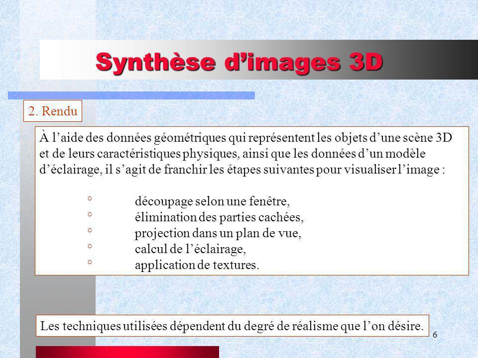 6 Synthèse dimages 3D 2.