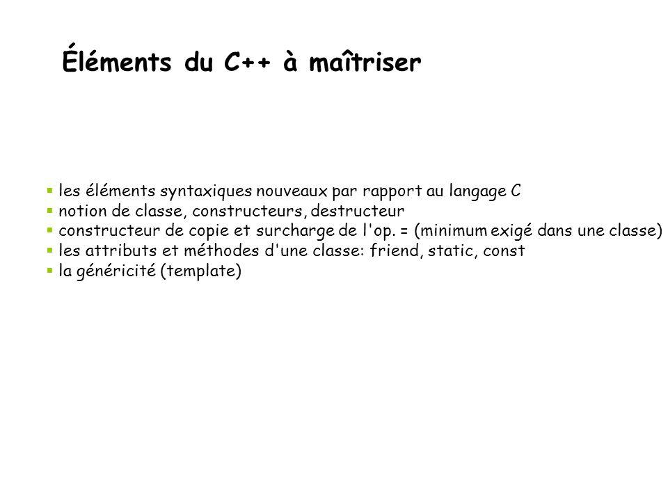 Rappel des éléments du C++ à étudier Semaine 1 Du C au C++ Les entrées/sorties (important pour cette semaine) L'espace de nommage Les types vector et