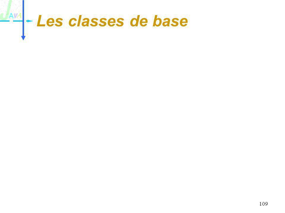 109 Les classes de base