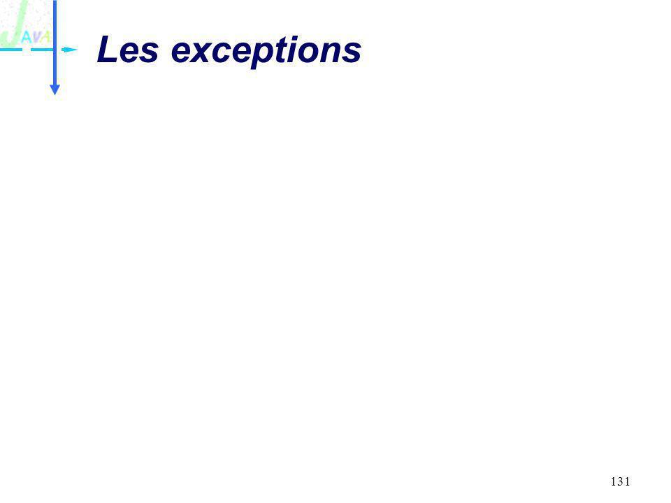 131 Les exceptions