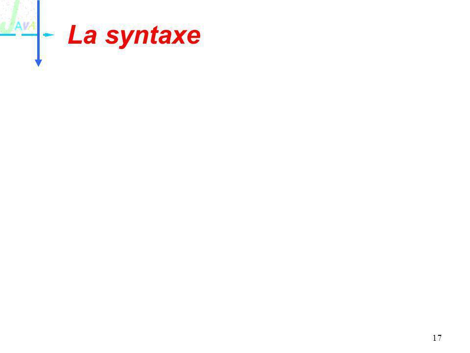 17 La syntaxe