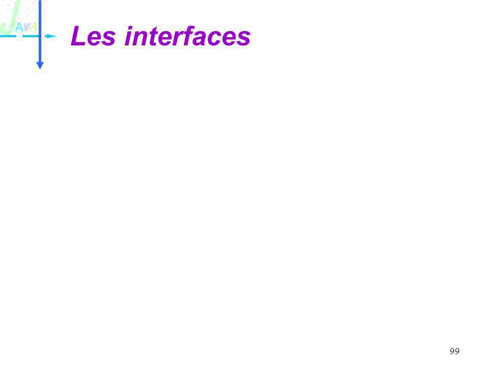 99 Les interfaces