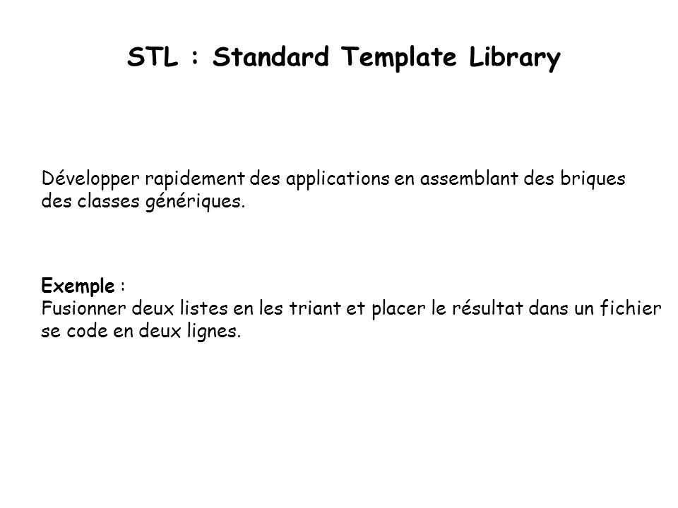 Exemple : Fusionner deux listes en les triant et placer le résultat dans un fichier se code en deux lignes.