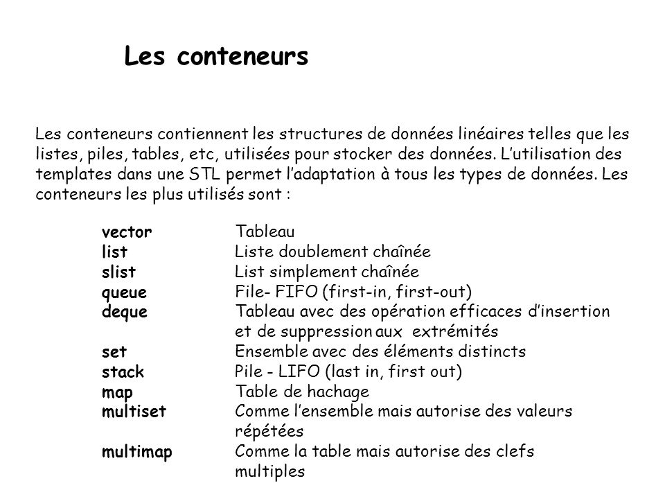 Les itérateurs Exemple 2 #include using namespace std;.................