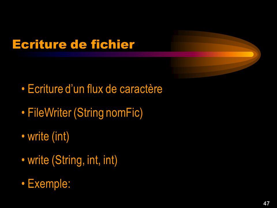 46 read (char (), int, int) Exemple: Lecture de fichier