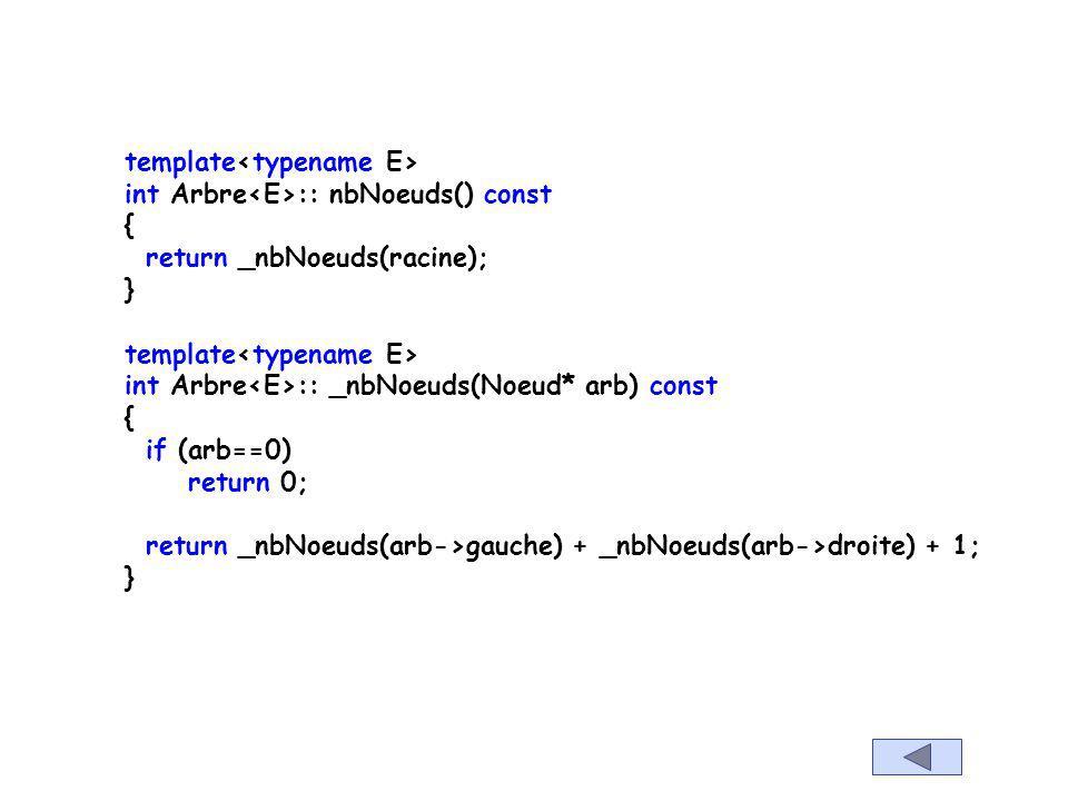template E Arbre ::_min(Noeud*racine) const throw (logic_error) { if (racine==0) throw logic_error(