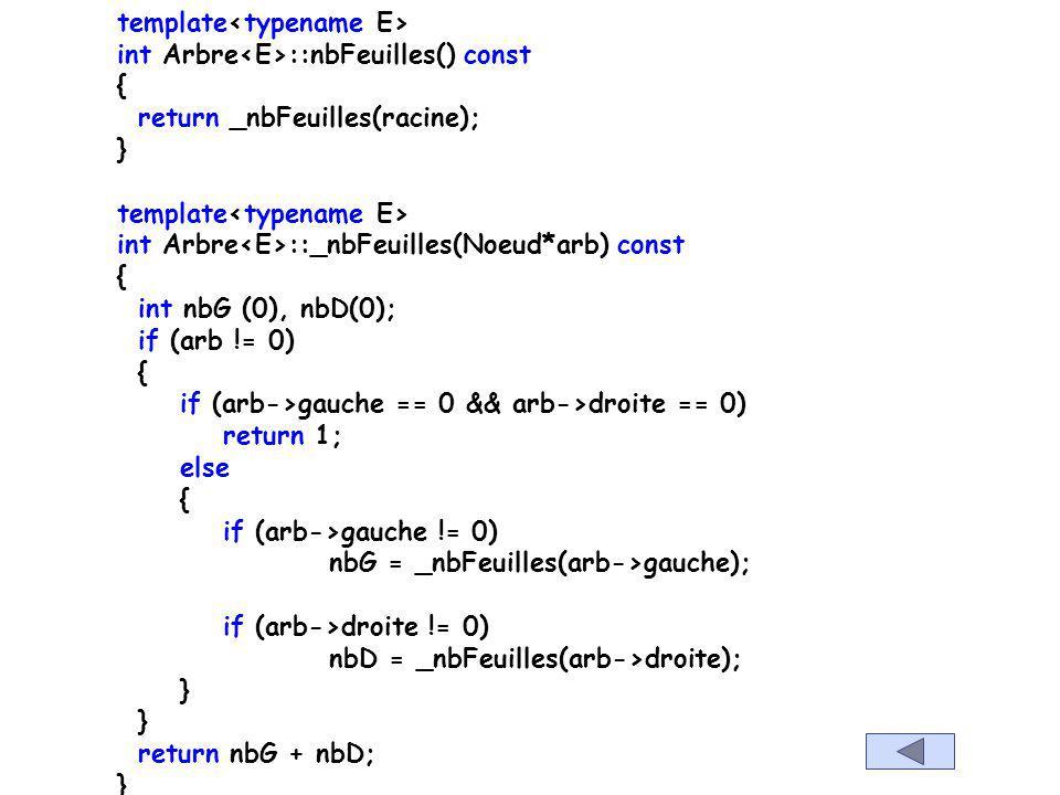 template int Arbre :: nbNoeuds() const { return _nbNoeuds(racine); } template int Arbre :: _nbNoeuds(Noeud* arb) const { if (arb==0) return 0; return