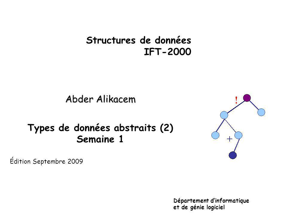 Manipulations (opérateurs): L L = .(i.e., L = 0?) x L.
