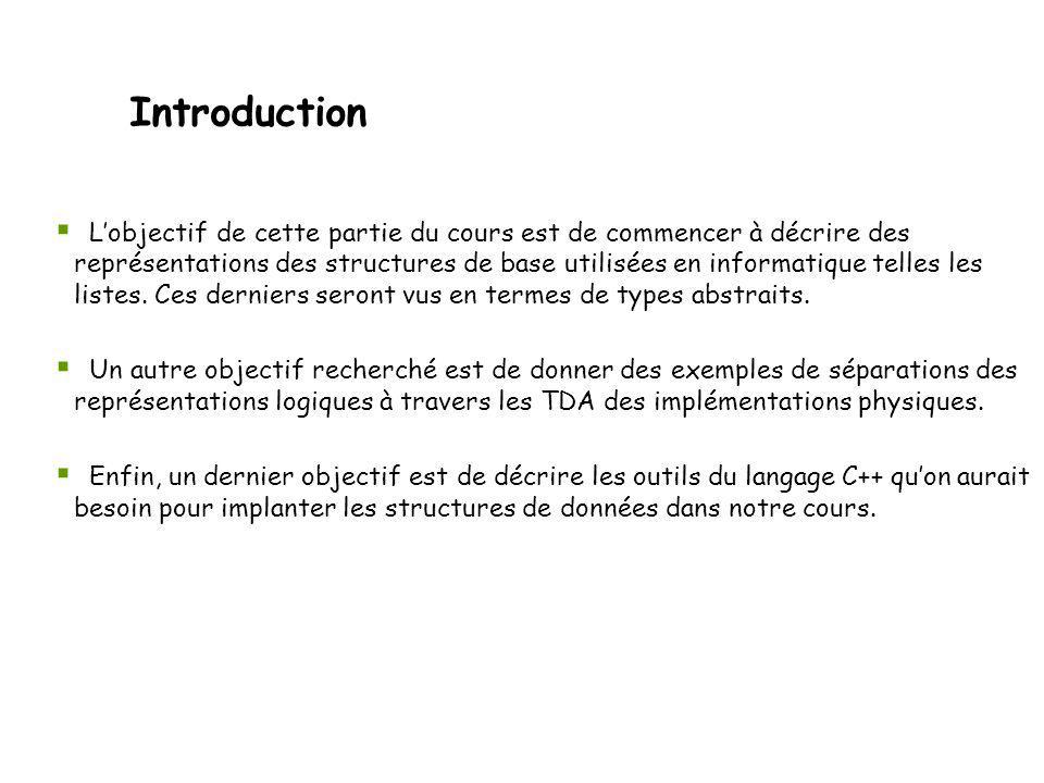 Surcharge de lopérateur = Définition de la classe Liste en C++ (version 2) class Liste { public: Liste operator = (const Liste&); // opérateur d affectation Le comportement habituel de lopérateur = autorise à enchaîner les affectations : l1=l2=l3; => la fonction retourne une référence et l argument est une référence.