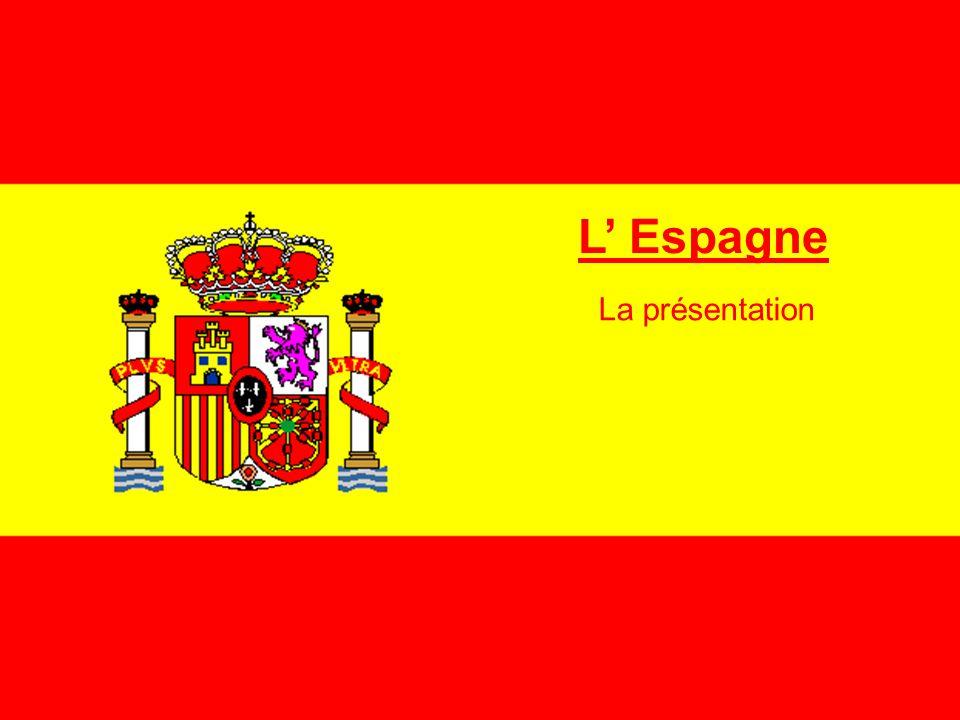 a) La situation géographique Le détroit de Gibraltar Mer Méditerranée Madrid Guadiana Tage Douro Guadalquivi Ebre GOLF DE VALENCE île Baléares Barcelone Saragosse