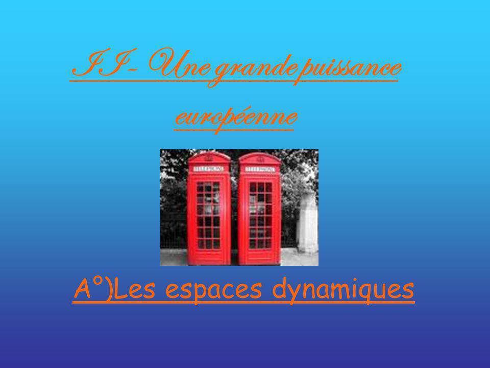II- Une grande puissance européenne A°)Les espaces dynamiques