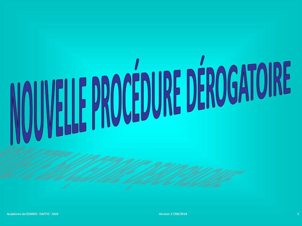 Version 17/04/2014Académie de RENNES - DAFPIC - SAIA1