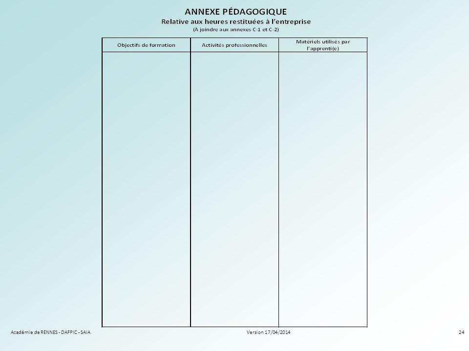Version 17/04/2014Académie de RENNES - DAFPIC - SAIA24