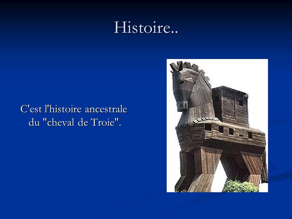 Histoire..C est l histoire ancestrale du cheval de Troie .