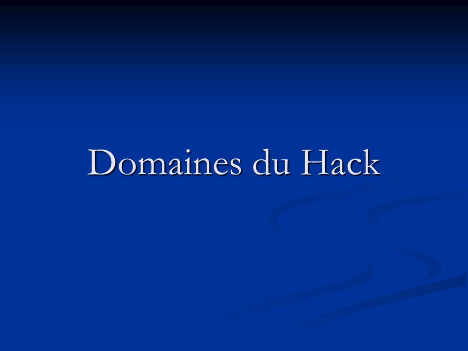 Domaines du Hack